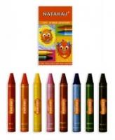 Карандаши цветные 8шт восковые 60мм Nataraj 209740001