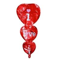 Воздушный шар I LOVE YOU фольга 8-218 (С4-1404)