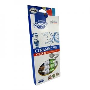 Краски для керамики 12цв 12мл 8-161 12-60 1-317 6-387 22124