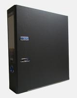 Папка регистратор А4 Economix 70мм серая собранная Е39721-10