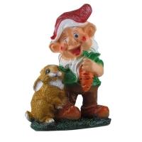 Фигура для декора Мультяшка №19 с кроликом и морковкой 914