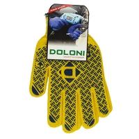 Перчатки PROFI с ПВХ рисунком желтые DOLONI 4460 Цена за пару