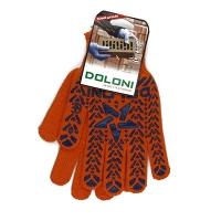 Перчатки Звезда с ПВХ рисунком оранжевые DOLONI 564 Цена за пару