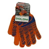 Перчатки Ладонь с ПВХ рисунком оранжевые DOLONI 794 Цена за пару
