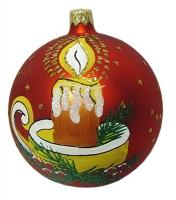Стеклянный шар d100мм Праздничный огонек 90476 Полимер
