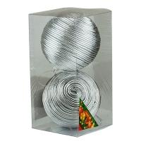 Набор елочных игрушек пластик 10см в упак 2шт 92088-PN