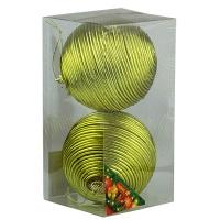 Набор елочных игрушек пластик 10см в упак 2шт 92090-PN