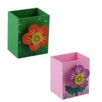 Подставка для ручек деревянная Цветок 8,5*7*5см микс 41303-UN