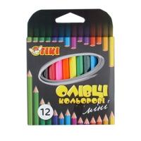 Карандаши цветные 12шт короткие ТІКІ 51623-ТК