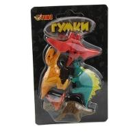 Ластик фигурный на блистере Динозавры,ящерицы большие 4шт 14*8см TIKI 50828-TK