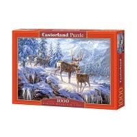 Пазлы Castorland 1000 эл Олени в зимнем лесу C-102501