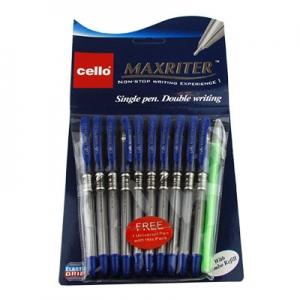 Ручка масляная синяя 0,5мм Cello Maxriter  1-537 (21578) 8-110(21576)