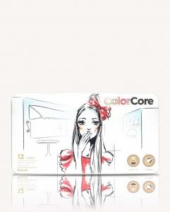 Карандаши цветные 12шт шестигранные в металическом пенале Color Core MARCO 3130-12TN