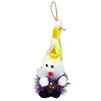 Новогодние украшения Снеговичек ткань