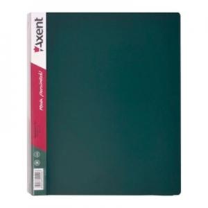 Папка А4 на 4 кольца 35мм зелёная 1208-05 А