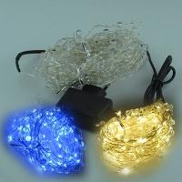 Гирлянда электрическая белая, цветная, синяя 100л капельки леска 5-268 (6366)
