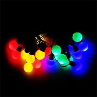 Гирлянда электрическая Шарики разноцветные 20шт   5-272 (6366)