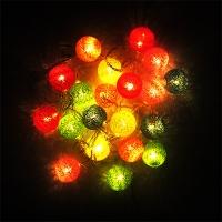 Гирлянда электрическая цветная шарики паутинка 20л LED 5-283 (6366)