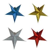 Новогодняя подвеска Звезда 40см картон голограмма  5-365 (6527)