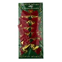 Набор бантиков красные с золотом 6 шт/уп цена за уп  5-488 (6527)