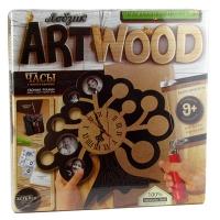 Набор креативного творчества ARTWOOD Настенные часы выжигание лобзиком LBZ-01-01,02,03,04,05