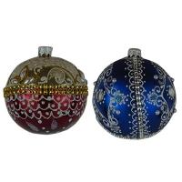 Стеклянный шар d80мм ромб, корона МР4
