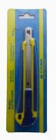 Нож универсальный 9мм металл. напр, резные вставками ВМ.4601