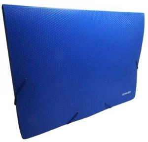 Папка бокс А4 40мм на резинках синяя E31402-02