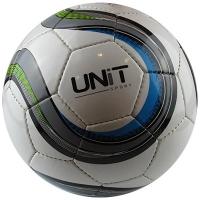 Мяч футбольный черно-голубой PVC Shine разм 5 UNIT 20148-US