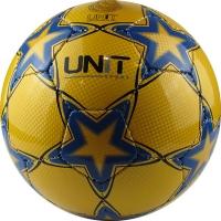 Мяч футбольный Звезда синяя на желтом фоне PU/PVC Shine разм 5 UNIT 20150- US