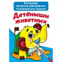 Книга Большие водные раскраски. рус Детеныши животных 0216