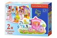 Пазлы Castorland 2хContour Принцессы (9,15) В-020034
