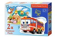 Пазлы Castorland 2хContour Пожарная машина (9,15) В-020058