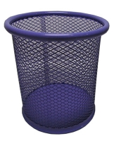 Подставка для ручек металлическая 10*9 см фиолетовая 76104-NV