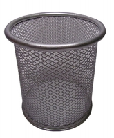 Подставка для ручек металлическая 10*9 см серебряная 76103-NV