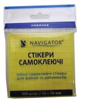 Стикер пастель один цвет 100шт 76*76 мм желтый 75 г/м2 76208-NV