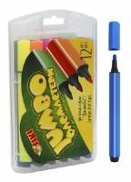 Фломастеры 12 цветов TIKI Jumbo пласт уп 52709-TK