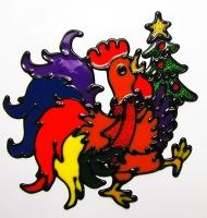 Наклейка новогодняя Символ года 20*19см 91174-PN