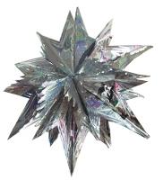 Новогодняя подвеска Звезда 92см серебрянная фольга 90613-PN