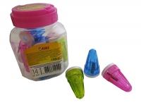 Точилка пластик 14шт в банке с контейнером 52615-TK