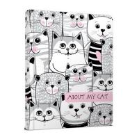 Книга А5 Альбом для друзей: About my cat 4 укр серый 9207