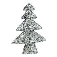 Новогодняя фигура Елка 40см светодиодная серебро 5-182 (6521)