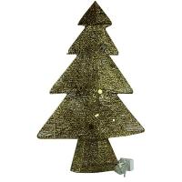 Новогодняя фигура Елка 60см золото светодиодная  5-184 (6521)