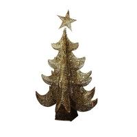 Искусственная елка золото 1м светодиодная  5-191 (6521)