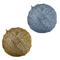 Новогодняя подвеска Шар d50см золото,серебро 5-195 (6521)
