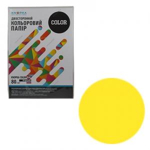 Бумага цветная А4 50л Knopka жёлтый неон 80г/м2 NEOGB
