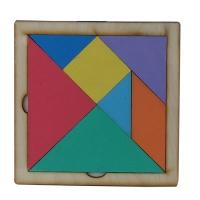 Игрушка развивающая Танграм фанера цветная О-00008