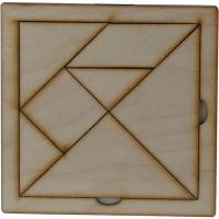 Игрушка развивающая Танграм фанера 12*12см О-00007