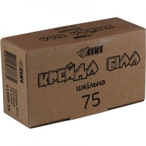 Мел белый 75шт квадрные TIKI 12*12*100мм ТК-51509 цена за уп