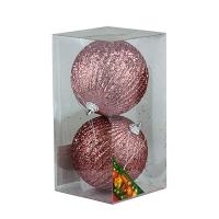 Набор елочных игрушек пластик 10см в упак 2шт 92082-PN